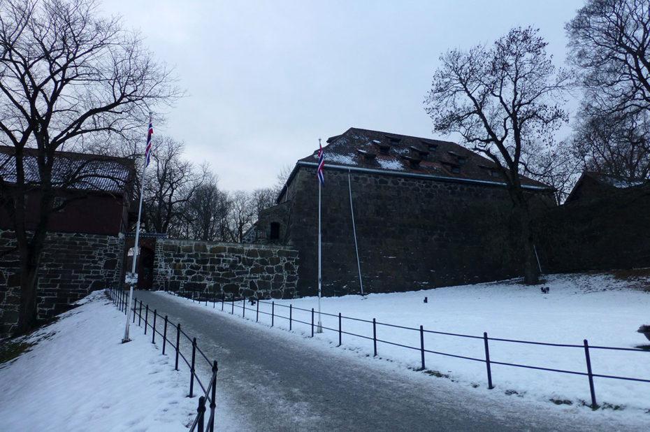 Une des entrées secondaires de la citadelle d'Akershus