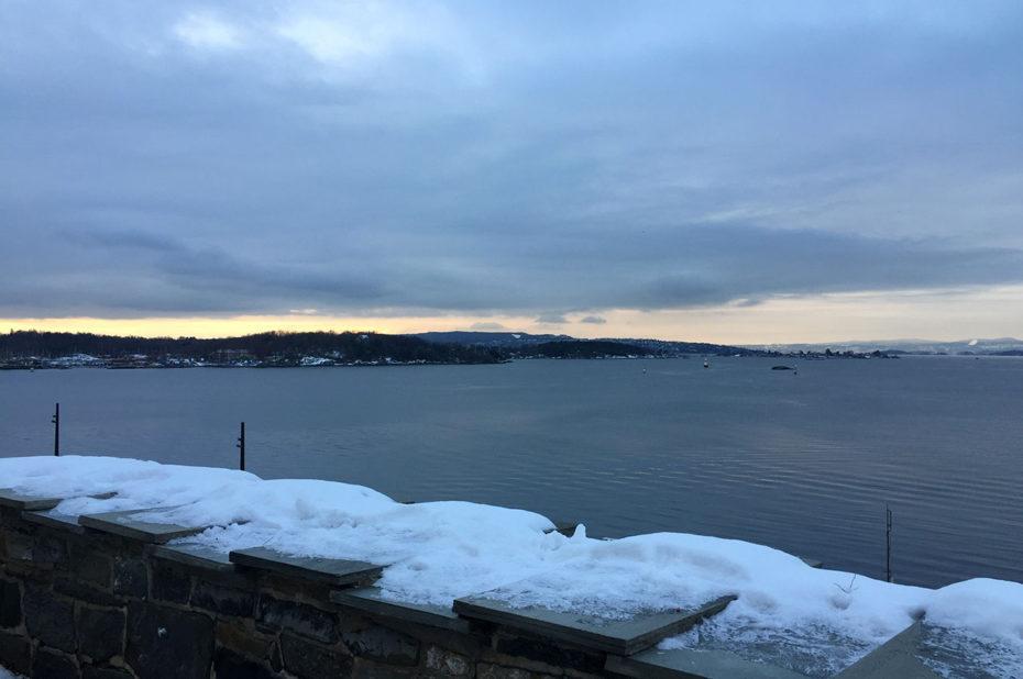 Le fjord d'Oslo, aujourd'hui calme, loin des attaques d'antan