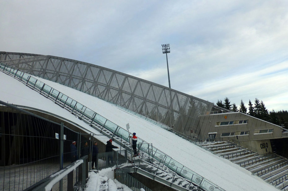 L'Holmenkollbakken d'Oslo est vraiment impressionnant
