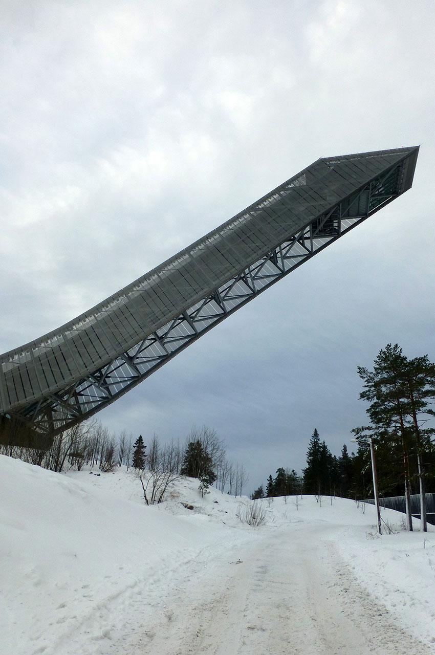 L'Holmenkollbakken, tremplin de saut à ski haut de 134 m