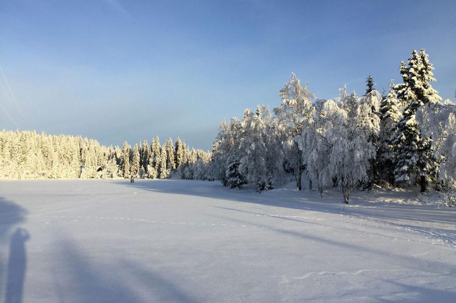 Le lac d'Øvresetertjern, gelé en hiver