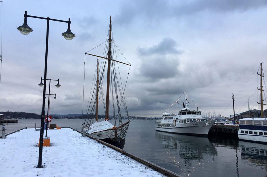 Dans la marina du port d'Aker Brygge