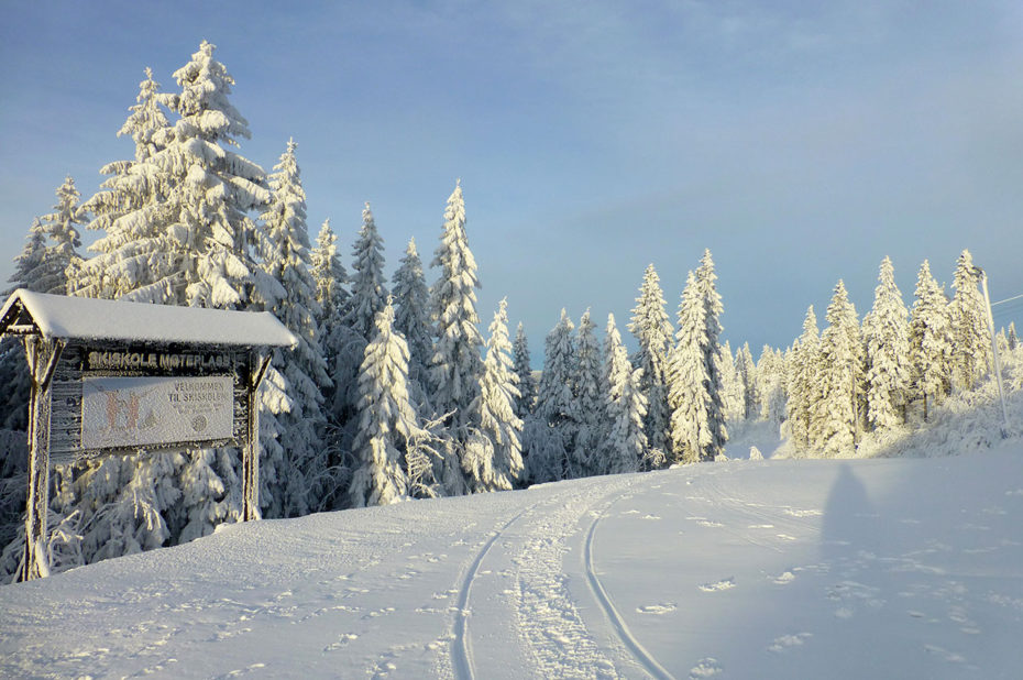 Panneau pour une école de ski