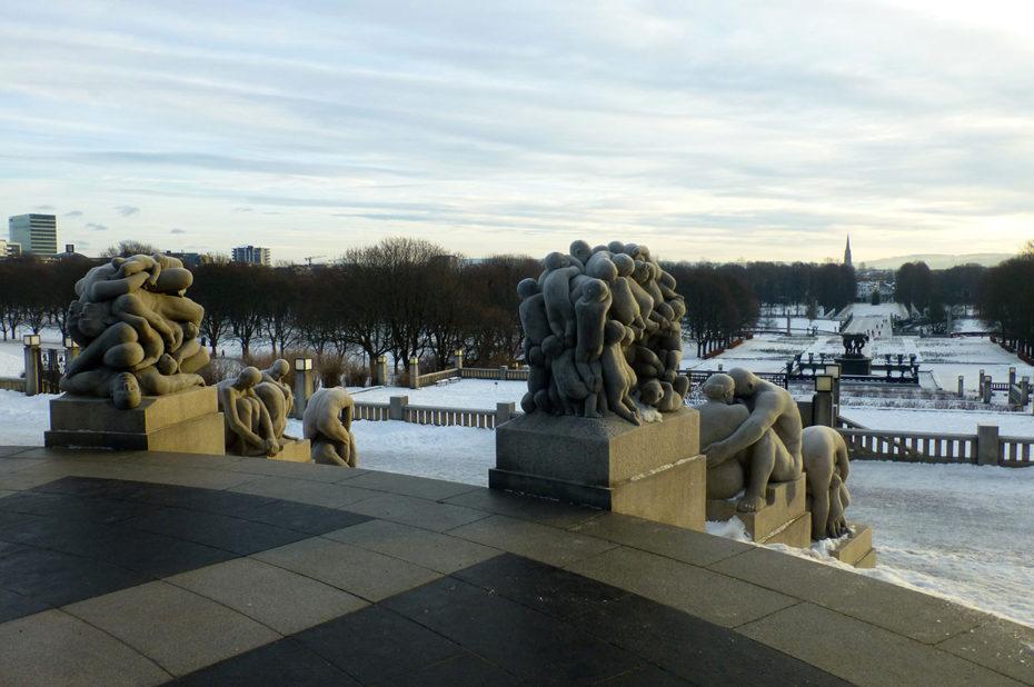 Le parc de sculptures Vigeland s'étend sur 320 hectares