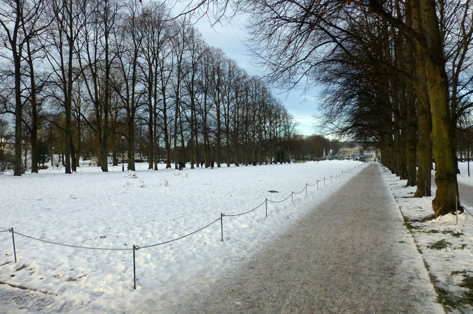 Le parc Vigeland est ouvert toute l'année, même le jour de Noël