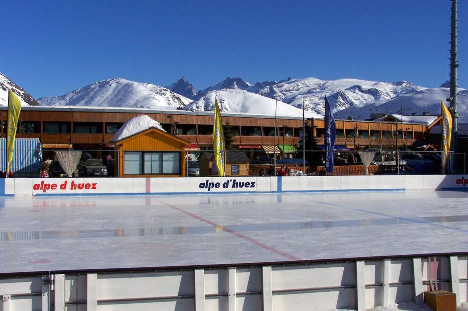 La patinoire de l'Alpe d'Huez