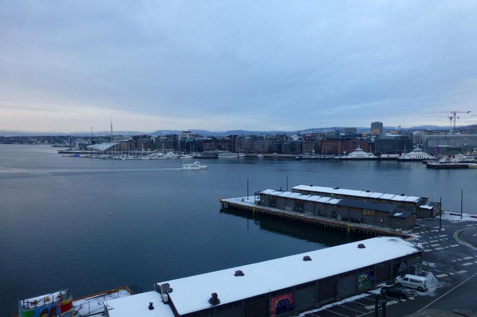 Le port d'Oslo à Aker Brygge