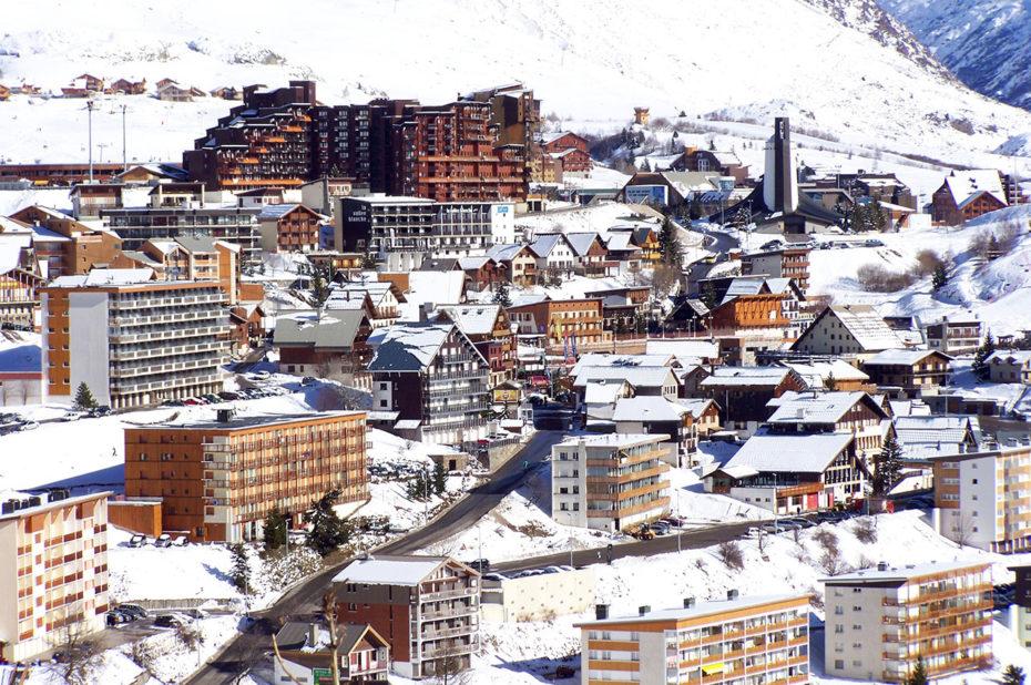 La station de l'Alpe d'Huez en hiver