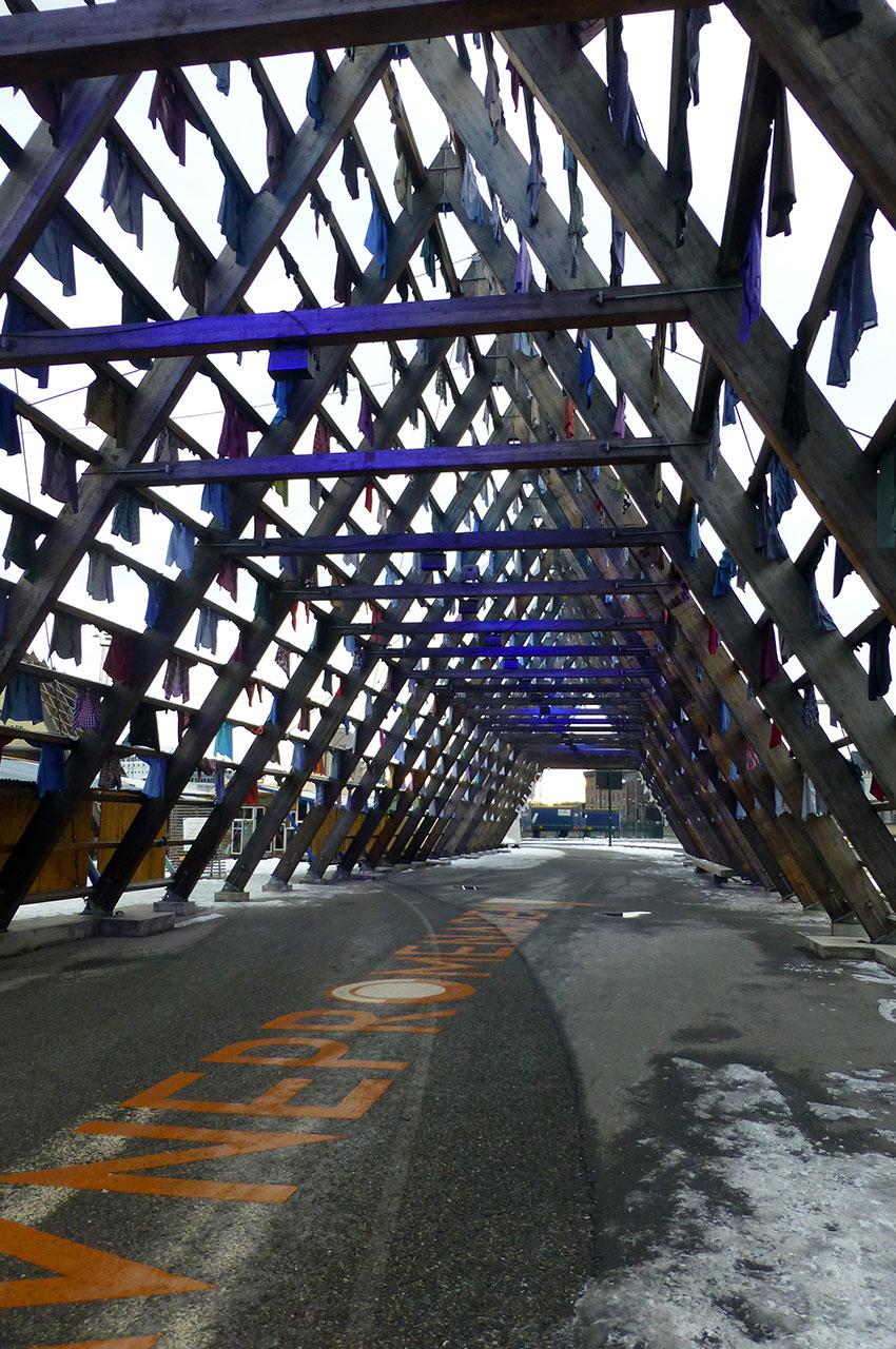 Structure en bois sur Havnepromenade