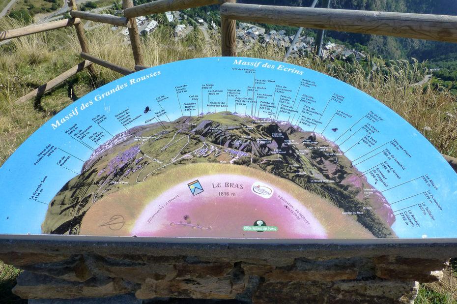 La table d'orientation du chemin panoramique
