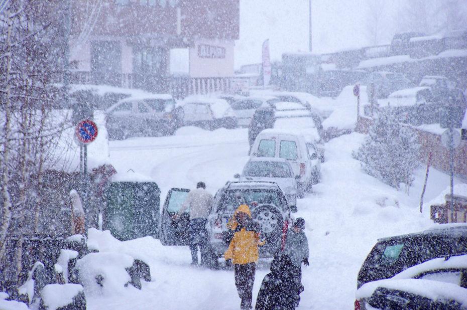 Tempête de neige au mois de décembre