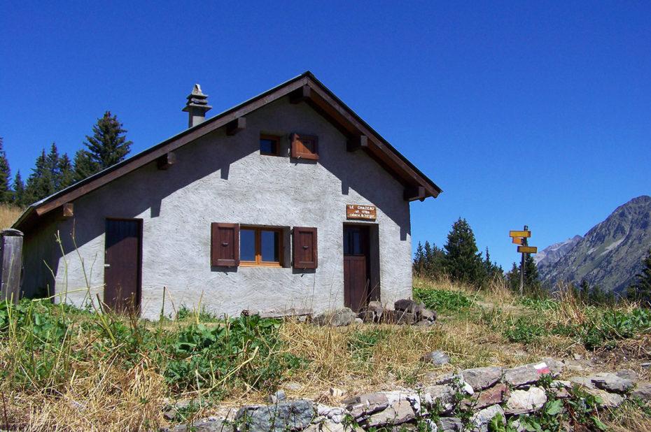 La cabane du Chazeau, à 1778 m d'altitude