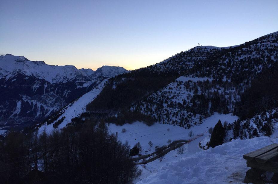 Crépuscule au début du sentier panoramique