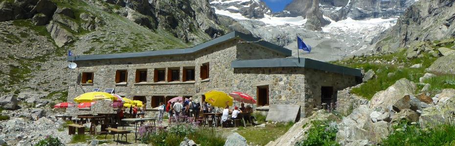 Le refuge du Châtelleret, dans le Parc National des Écrins