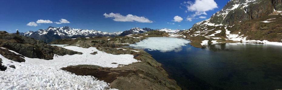 Le début de la balade des Lacs à la fin de l'hiver