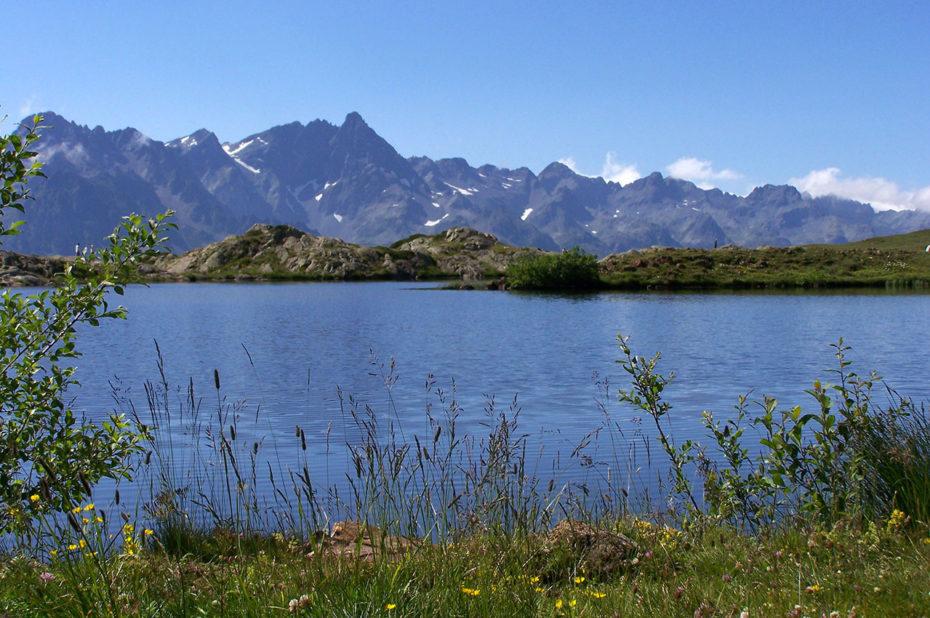 Au bord du Lac Carrelet en été