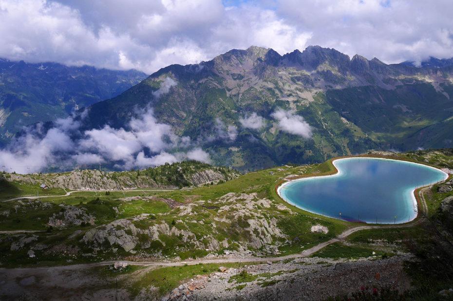 Lac artificiel au-dessus de l'Alpette
