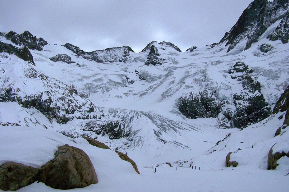 La Pointe de la Pilatte à 3476 mètres, et son glacier