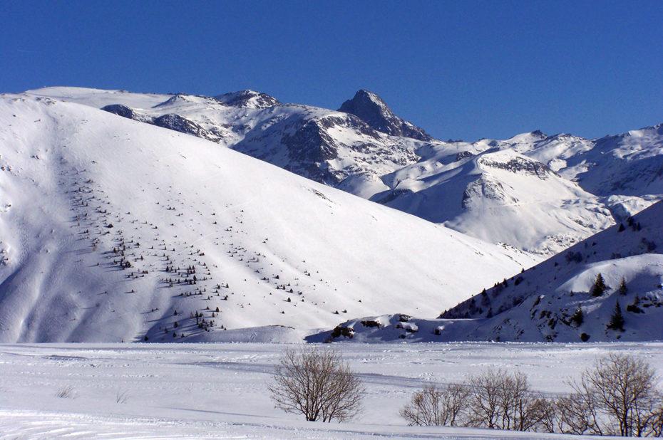 Quiétude lors d'une balade sur la route de Sarenne en hiver