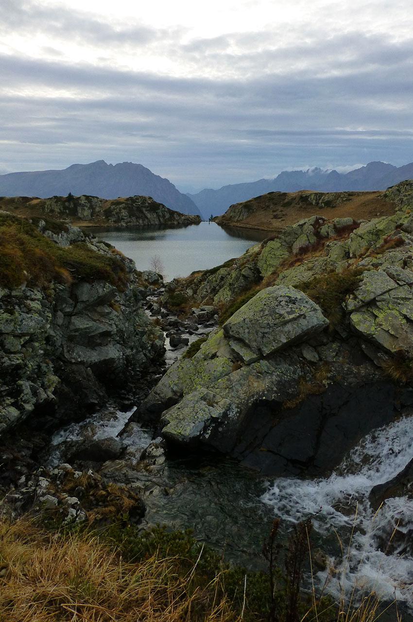 Le torrent se déverse dans le Lac Noir