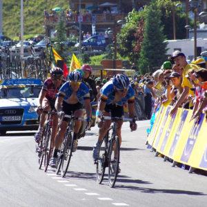Arrivée du Tour de France 2008 à l'Alpe d'Huez