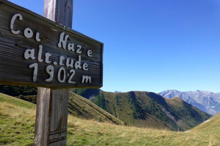 Le col Nazié, à 1902 m d'altitude