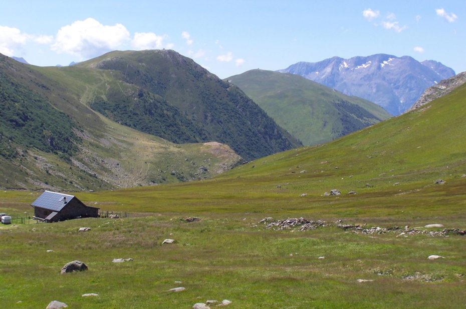 Au col de Sarenne, vue sur la vallée de Sarenne