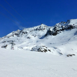 Peu de monde sur les pistes, c'est idéal pour skier
