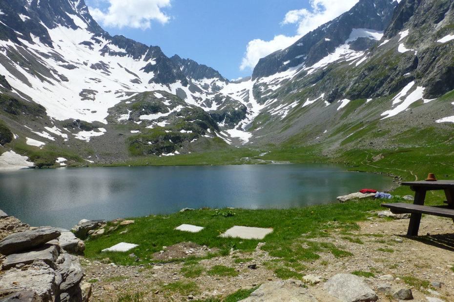 Pique-nique au bord du lac de la Muzelle