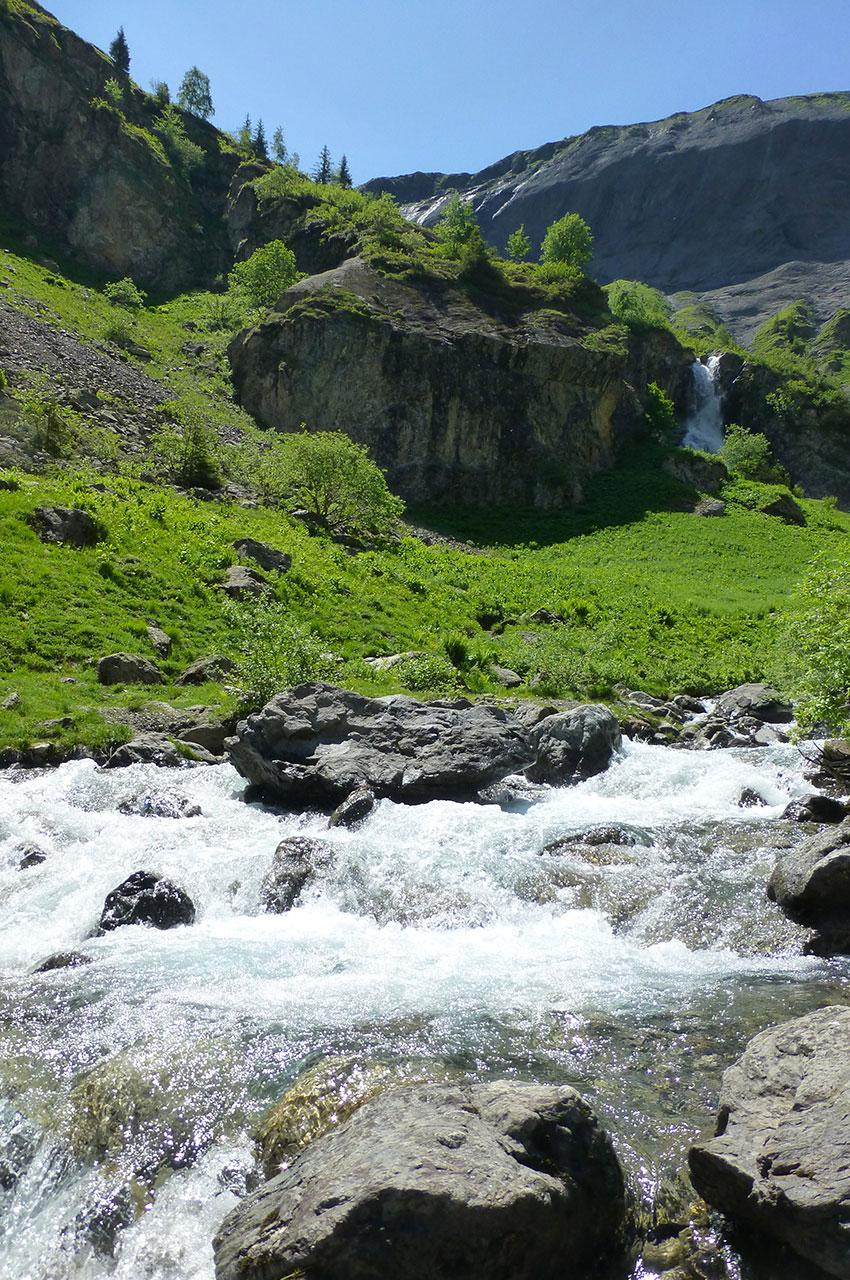 Ruisseaux le long du chemin de randonnée