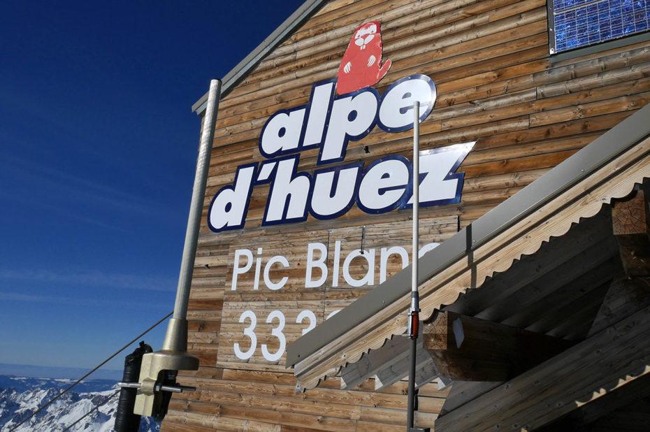 L'arrivée au Pic Blanc à 3330 m d'altitude