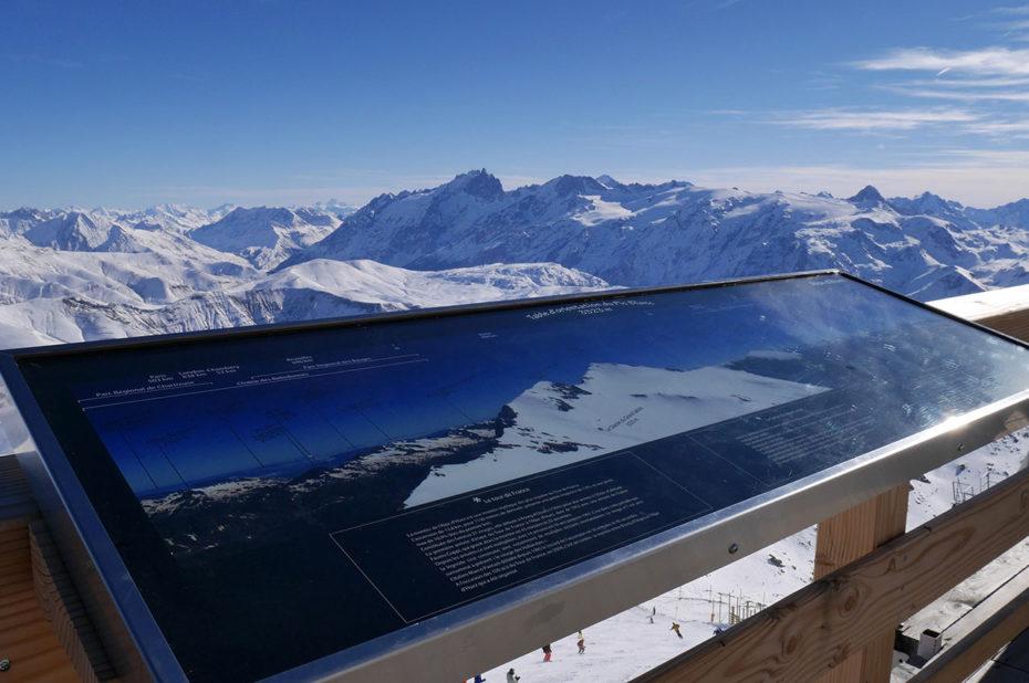 Table d'orientation du Pic Blanc à 3330 m