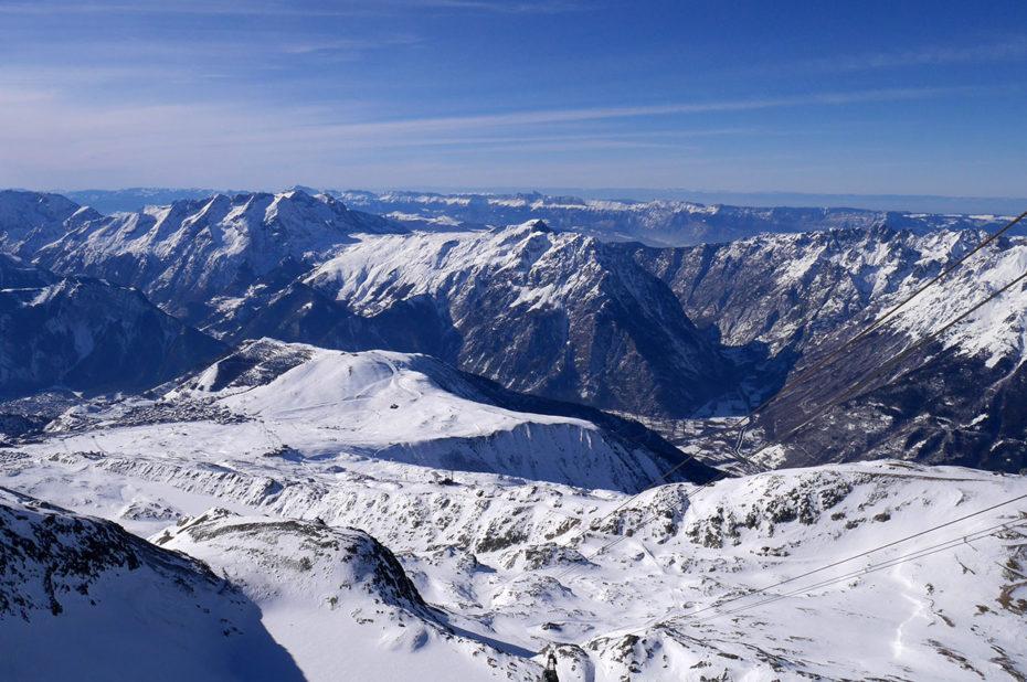 Vue depuis le téléphérique du Pic Blanc
