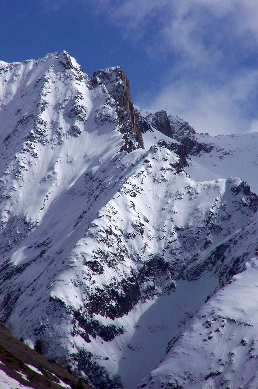 Paysage de haute montagne dans la vallée du Vénéon