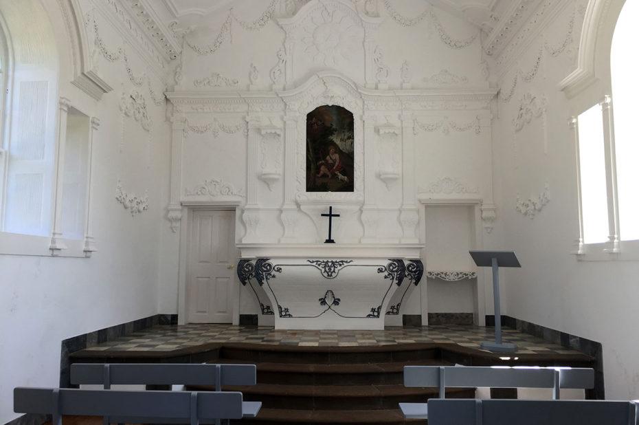 Intérieur de la chapelle des jardins de Palheiro