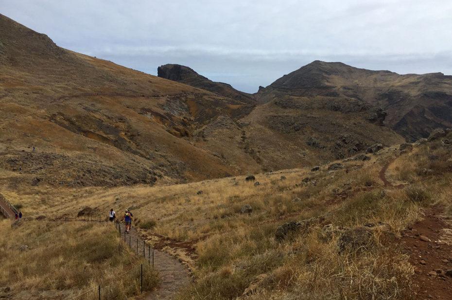 Début de la randonnée à la pointe de São Lourenço