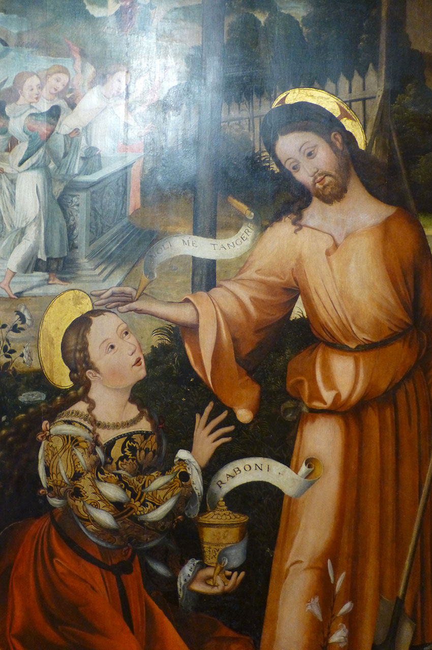 Apparition du Christ à Marie-Madeleine, peinture sur bois