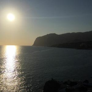 Coucher de soleil sur l'océan à Madère