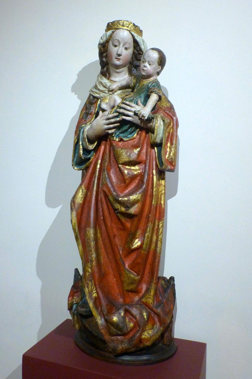 Statue d'une Vierge à l'Enfant