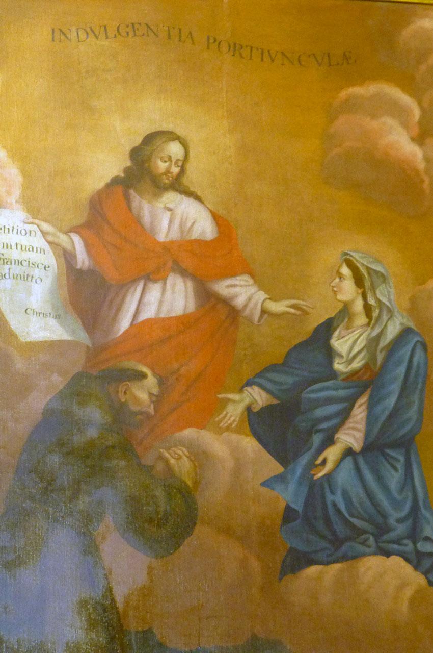 Peinture dans l'église Saint-Jean l'Évangéliste