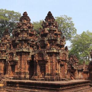 Zone centrale : les 3 sanctuaires alignés sur un axe nord-sud