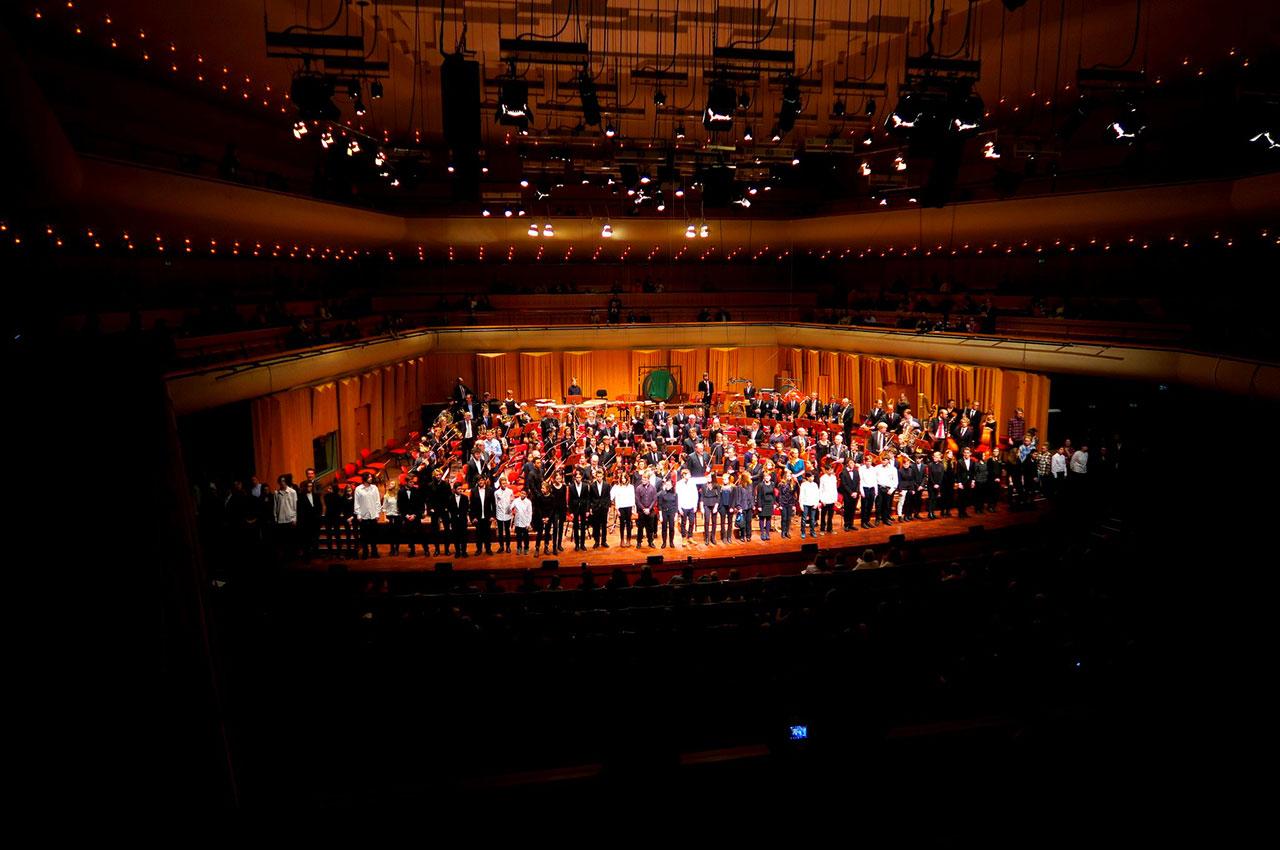 Salle de concerts, la Berwaldhallen à Stockholm